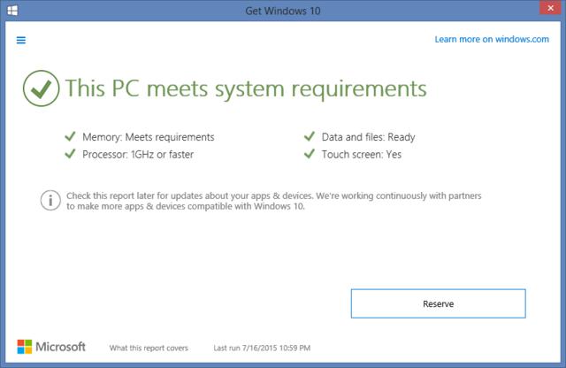 К слову, это приложение еще и само проверит ваш компьютер на совместимость – по минимальным требованиям