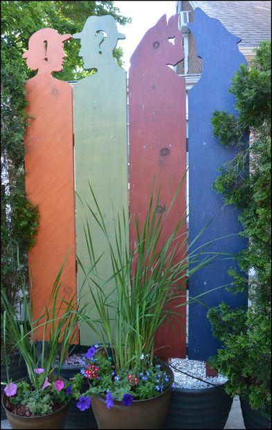 Как сделать креативный забор (по желанию в горшках) для дачи или загородного дома