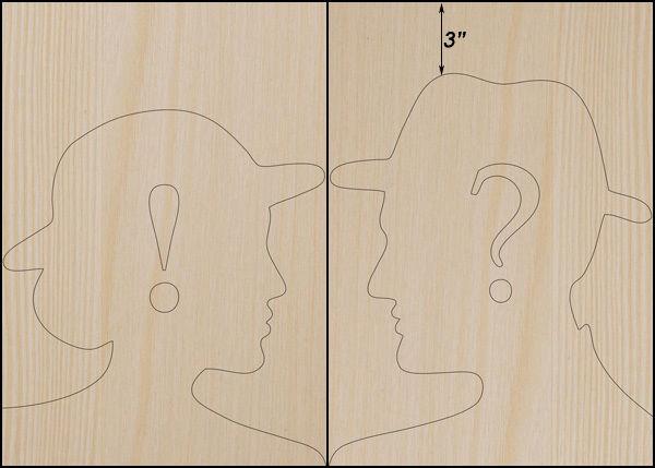 перенесите мужской и женский шаблоны-профили на доски для забора