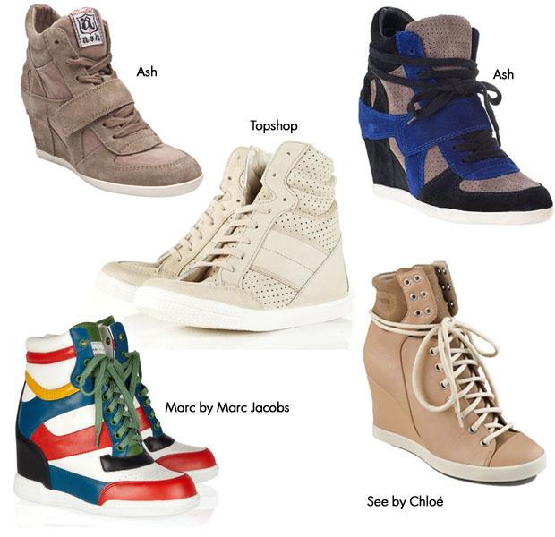 крутые кроссовки, которые сейчас уже больше похожи на молодежные полуботинки на платформе/сплошном каблуке