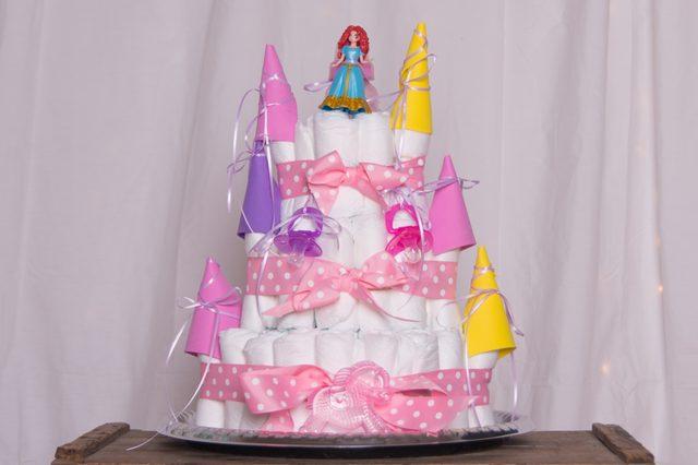 Как сделать замок из подгузников в подарок на рождение малыша