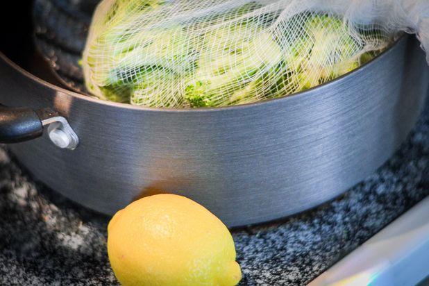 бланшировка овощей в марле