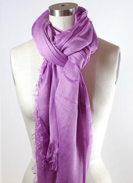 Легкий шарф двойной узел
