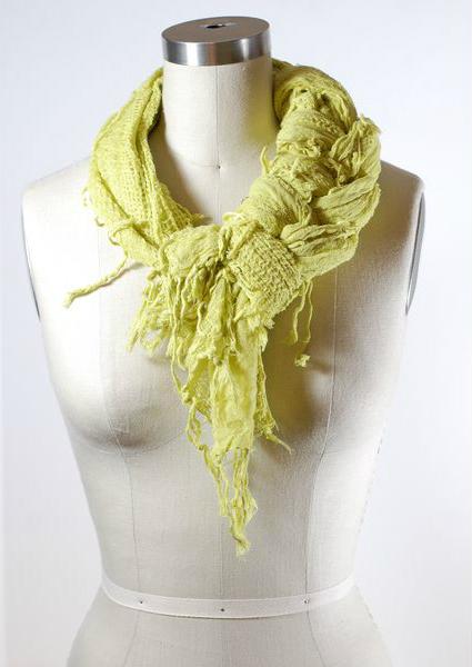 Легкий шарф узел коса косичка
