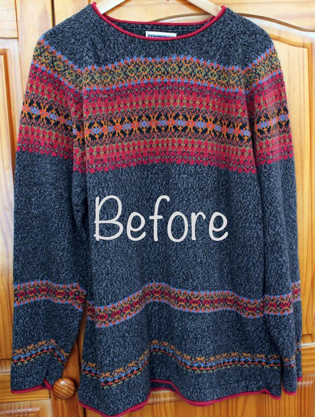большой свитер на юбку
