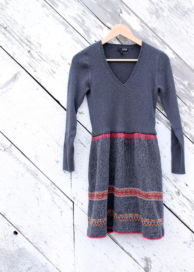 готовое платье из двух свитеров