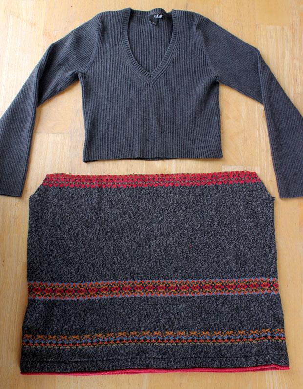 отрезанные верх и юбка платья