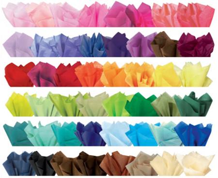 требуемый цвет особой, тонкой оберточной бумаги