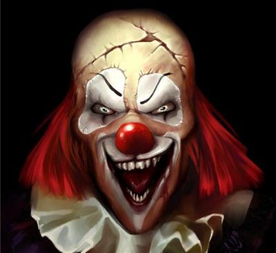 Рисунок злой клоун