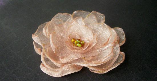 Как сделать цветок из органзы