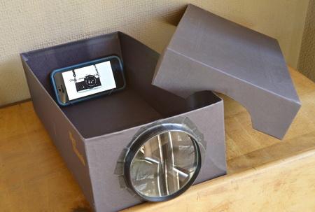 Как сделать домашний проектор из коробки и телефона