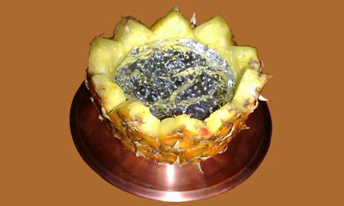 чаша для кальяна из ананаса