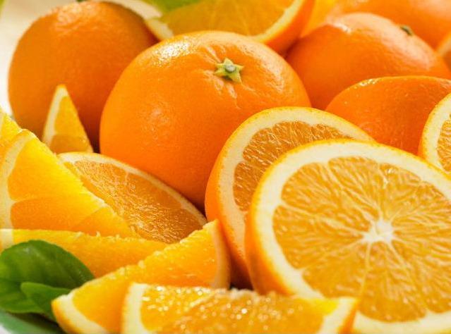 сочные яркие апельсины дольки разрезанные
