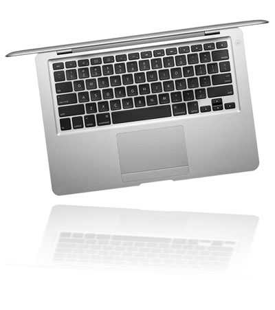 Macbook Air сверху