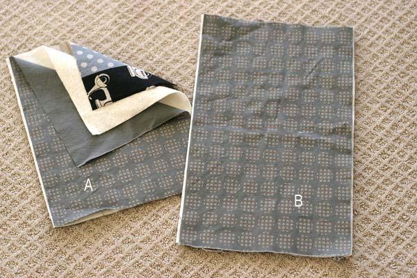 уплотнение ткани и пришивание подкладки