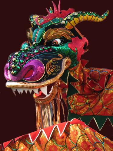 В Интернете найдите несколько изображений костюма китайского дракона