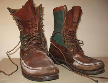 Ботинки с соляными разводами