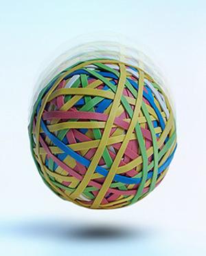 Антистрессовый мячик из шариков