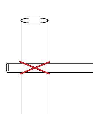 В каждой секции прикрутите рейки друг к другу бечевкой крест-накрест