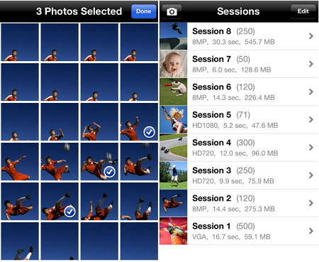 Функция The burst для серии снимком на iPhone