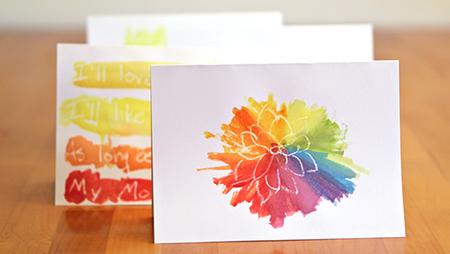 Как сделать оригинальные и интересные открытки с использованием акварели