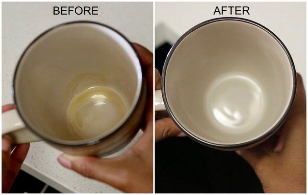 Как удалить пятна кофе с кружки