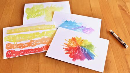 Готовые открытки положите как следует просушиться