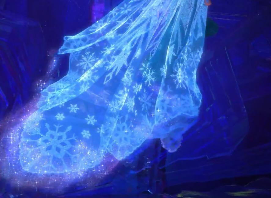 плащ королевы Эльзы из Холодного сердца - низ