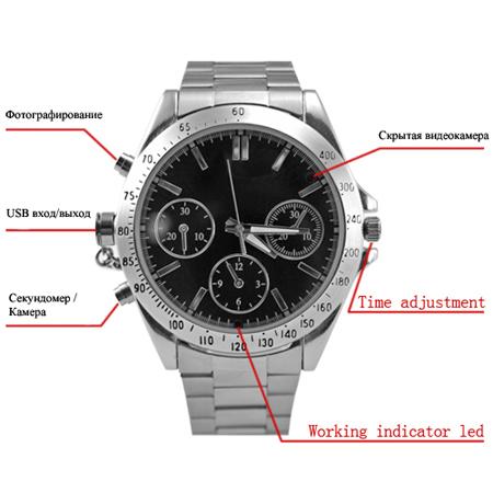 Часы классического дизайна с камерой