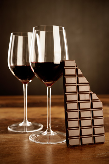 картинки шампанское и шоколад