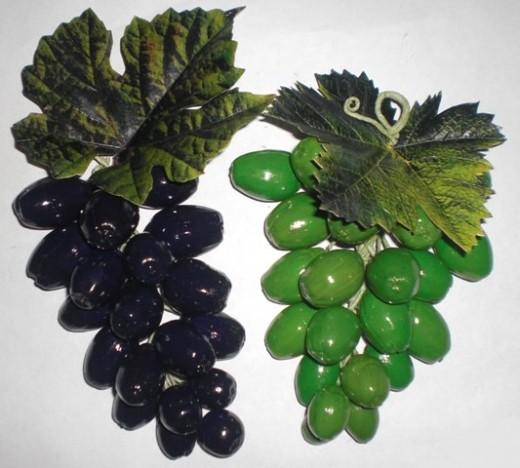 гроздья винограда из желудей осенние поделки