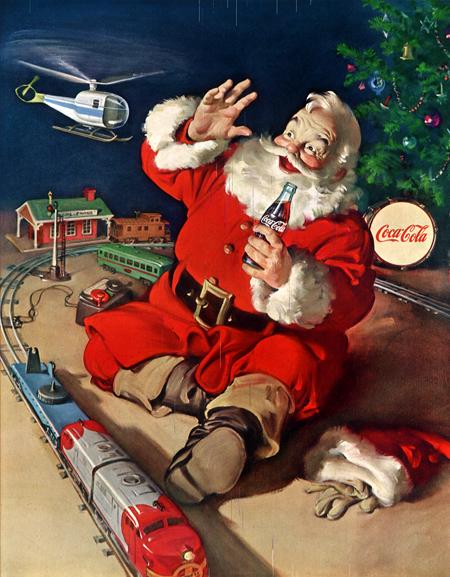 рождественская реклама Кока-Колы