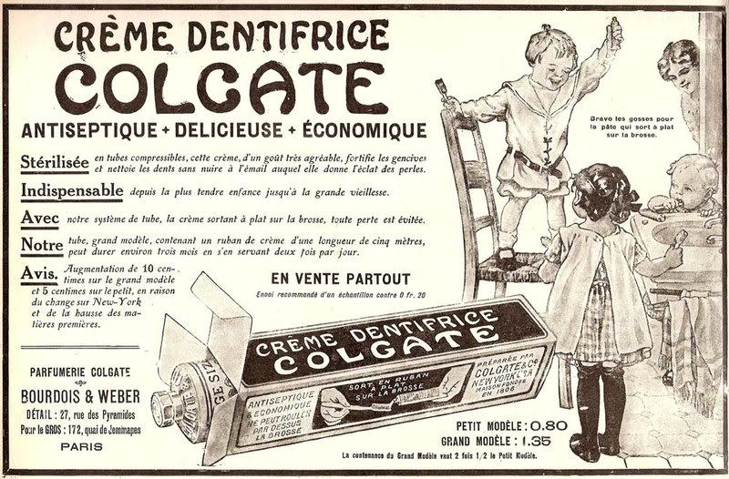 Зубная паста Колгейт (Colgate) - одна из первых