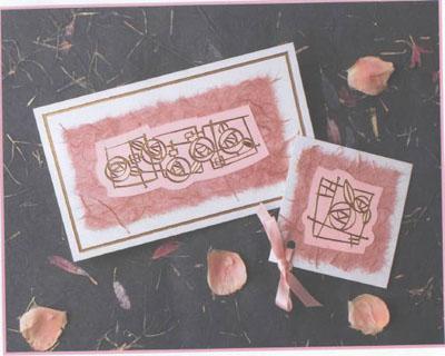 Милая розовая открытка