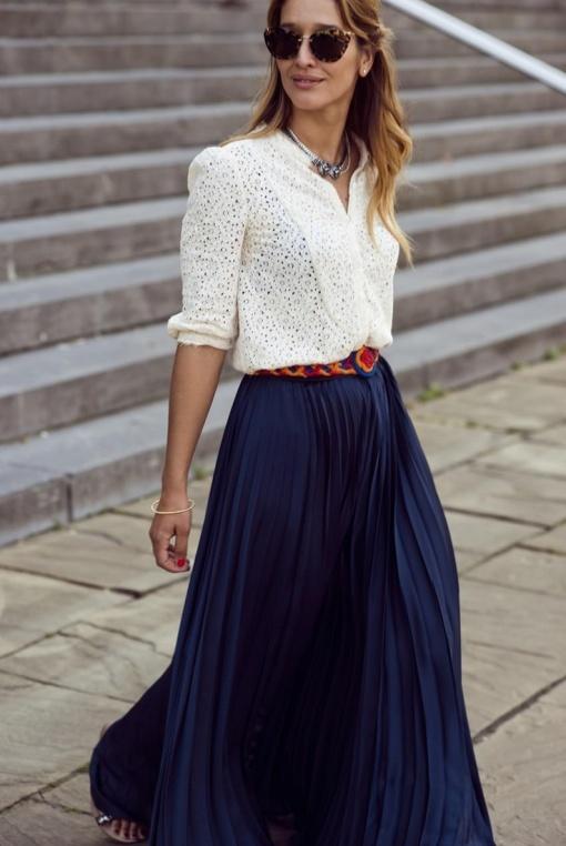 Как носить юбку-макси: 8 ультрамодных летних сочетаний