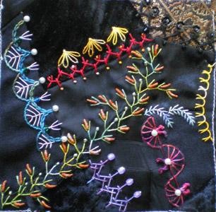 Узоры вышивок ришелье