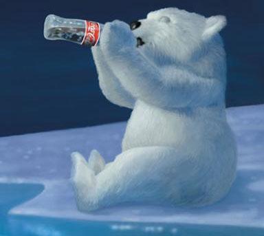 А помните этого мишку, пьющего колу