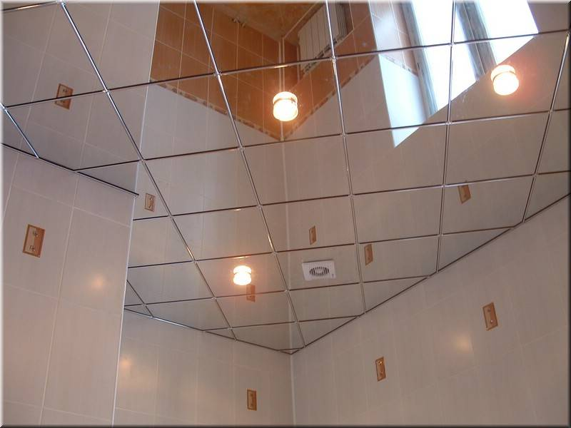 Как сделать зеркальный потолок?