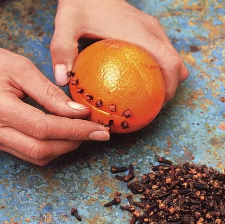 Как использовать апельсин в новогоднем декоре?