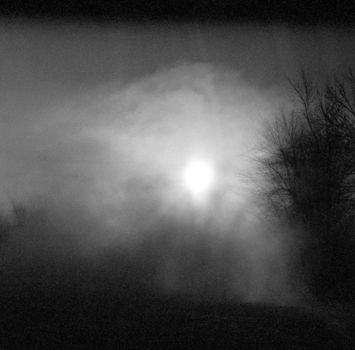 эффект наползающего рассеянного черного света