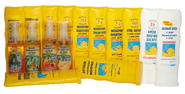Солнцезащитные средства для загара