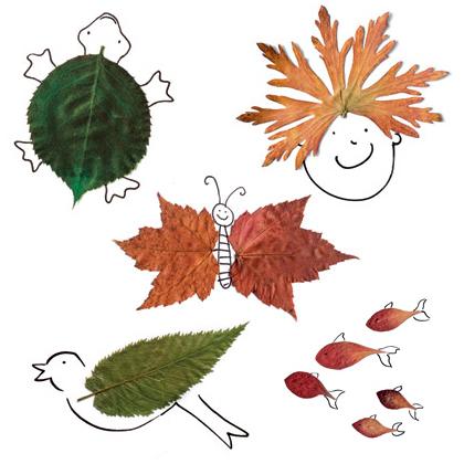 Друзья из листьев