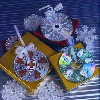 Как превратить CD-диск в нарядную снежинку