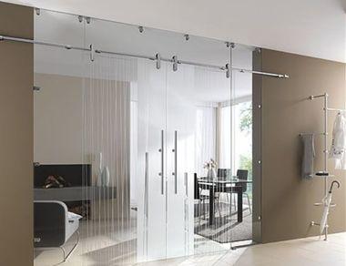 Как сэкономить место в доме при помощи стеклянных раздвижных дверей