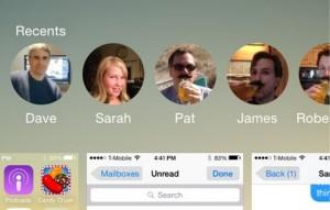 Меню последних вызовов в iOS 8 на iPhone