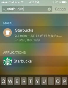 Быстрый поиск (Spotlight) на iPhone стал умнее в iOS 8