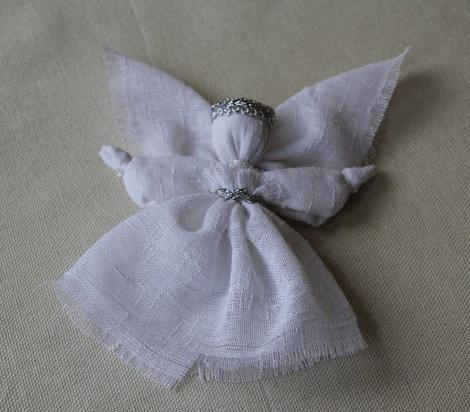 Как сделать ангела оберег из ткани