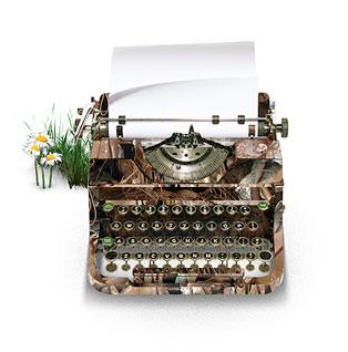 Печатная машинка. На ней приятно писать