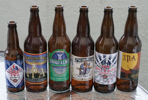 бутылки из-под IPA пива