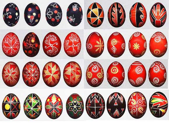 Как расписать пасхальное яйцо воском. Часть 2